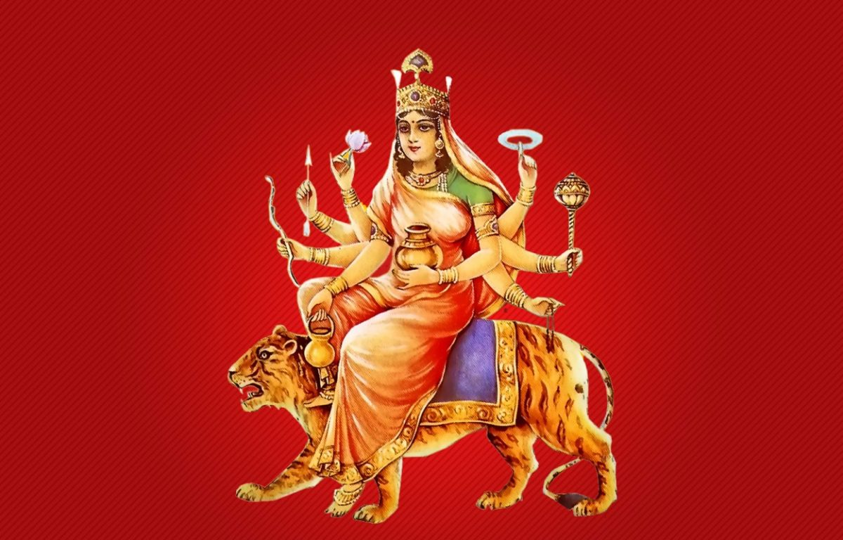 4th Day Worshipping of Goddess Kushmanda During Navratri