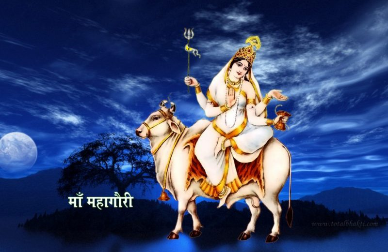 Navratri Day 8 – Worshipping of Goddess Mahagauri